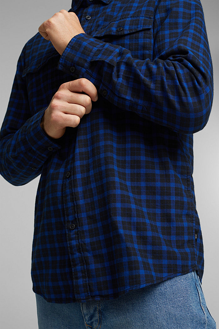 Check shirt made of 100% organic cotton, BLUE, detail image number 2