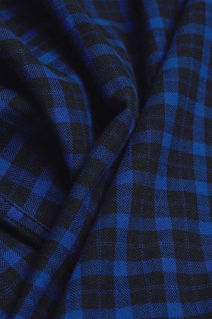 Kariertes Hemd aus 100% Organic Cotton, BLUE, detail image number 4