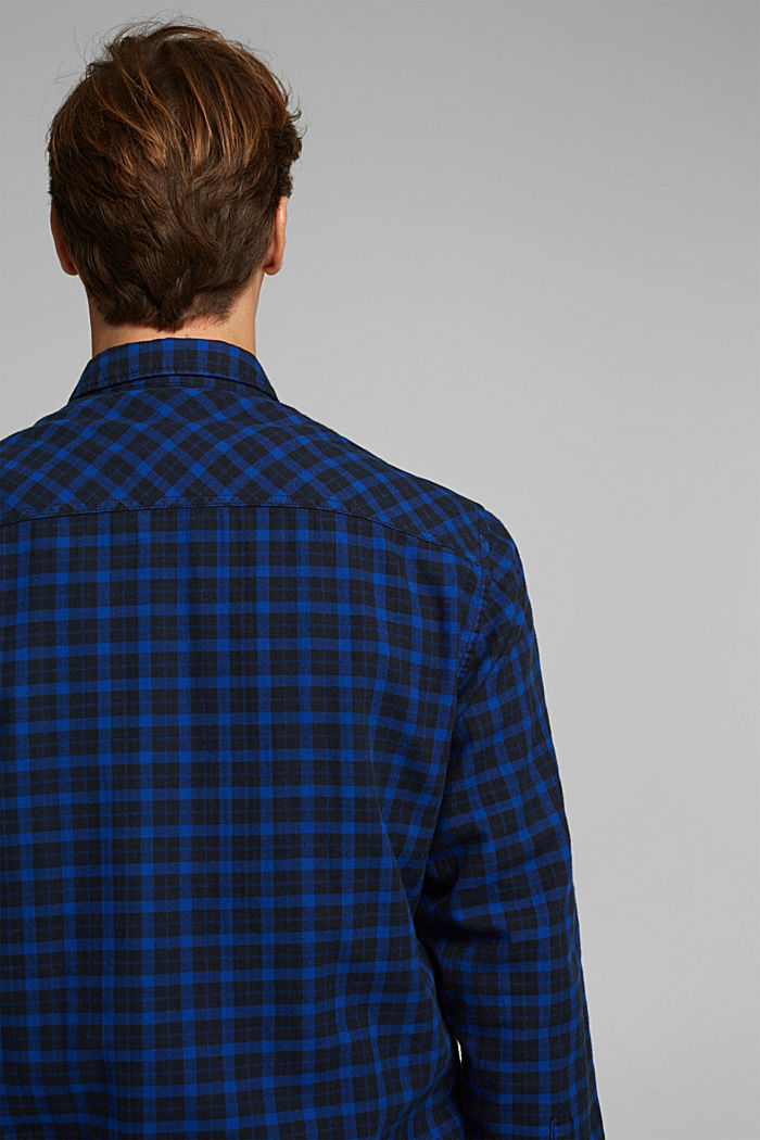 Check shirt made of 100% organic cotton, BLUE, detail image number 5