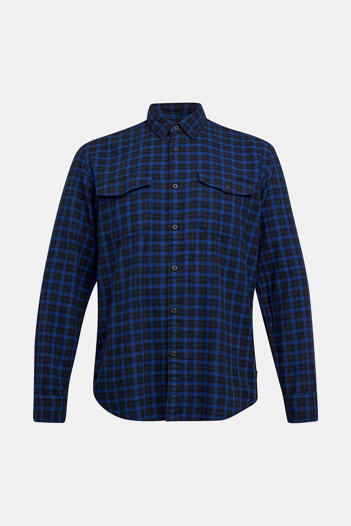 Check shirt made of 100% organic cotton, BLUE, detail image number 7