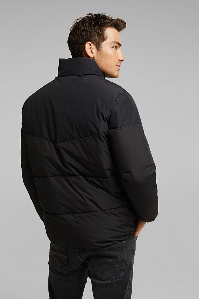 Recycled: padded quilted jacket, BLACK, detail image number 3