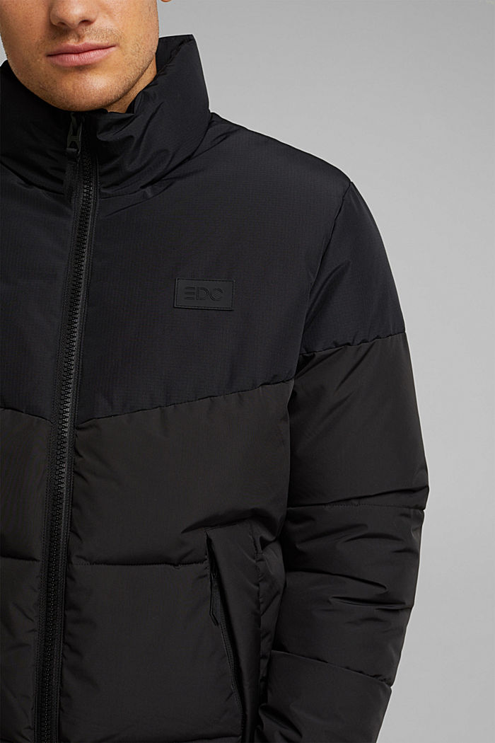 Recycled: padded quilted jacket, BLACK, detail image number 2