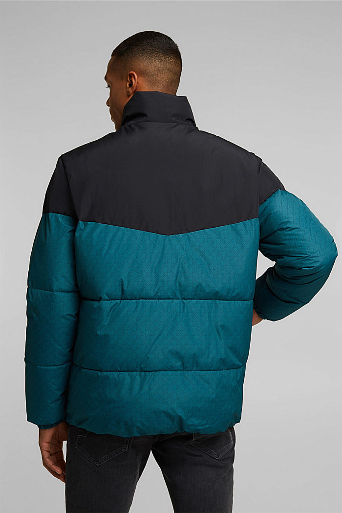 Recycled: padded quilted jacket, DARK TEAL GREEN, detail image number 3