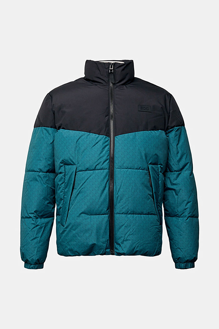 Recycled: padded quilted jacket, DARK TEAL GREEN, detail image number 6
