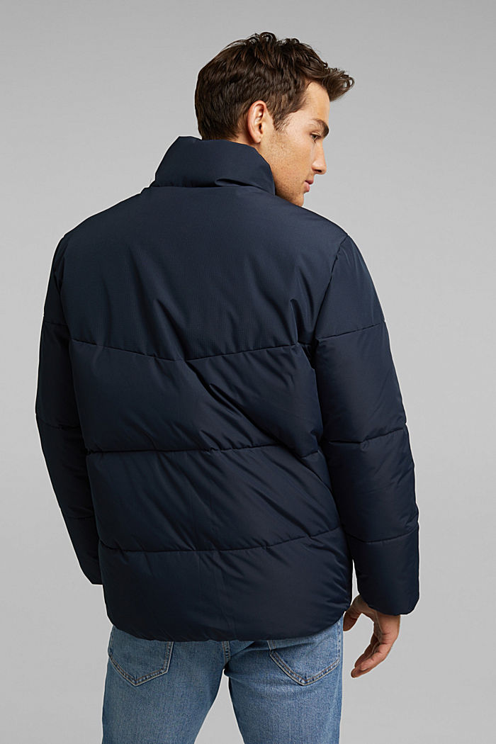 Recycled: padded quilted jacket, DARK BLUE, detail image number 3