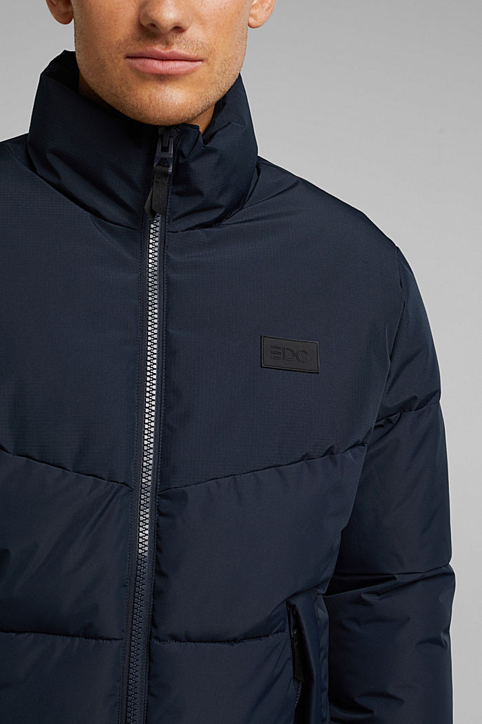 Recycled: padded quilted jacket, DARK BLUE, detail image number 2