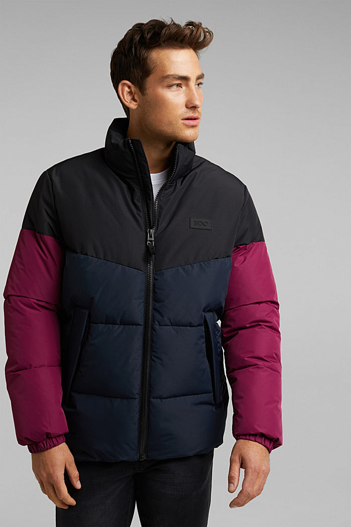 Recycled: padded quilted jacket