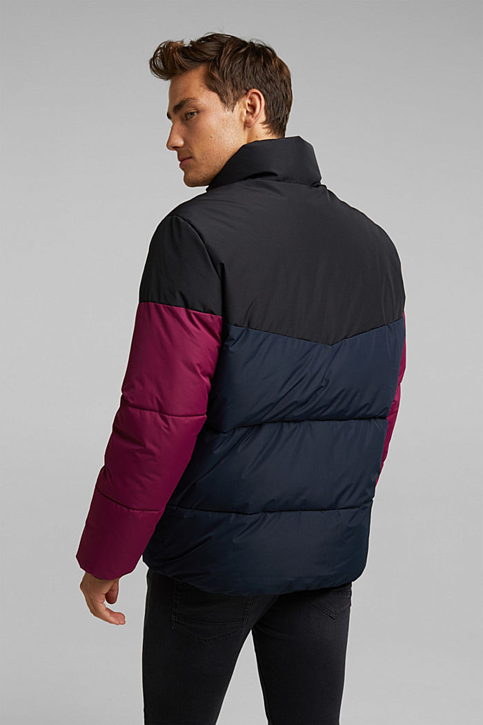 Recycled: padded quilted jacket, NEW DARK BLUE, detail image number 3