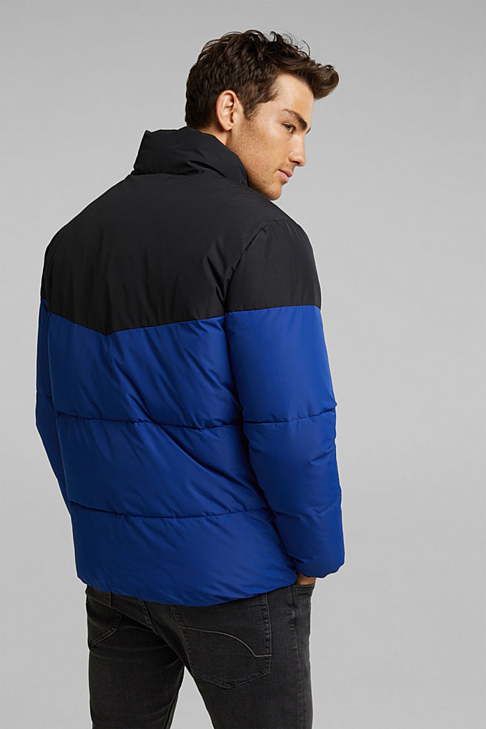 Recycled: padded quilted jacket, BLUE, detail image number 3