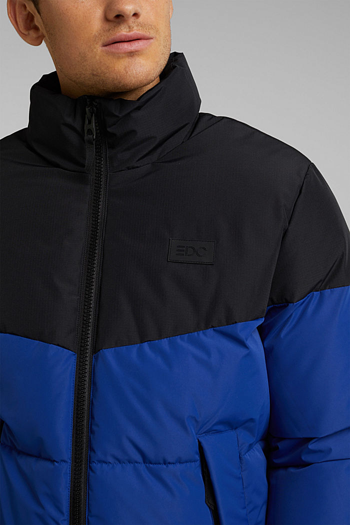 Recycled: padded quilted jacket, BLUE, detail image number 2