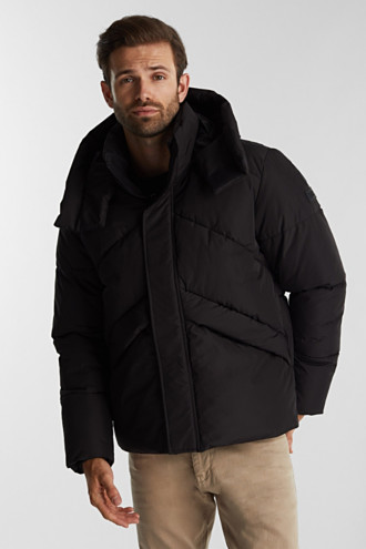 Recycled: nylon quilted jacket