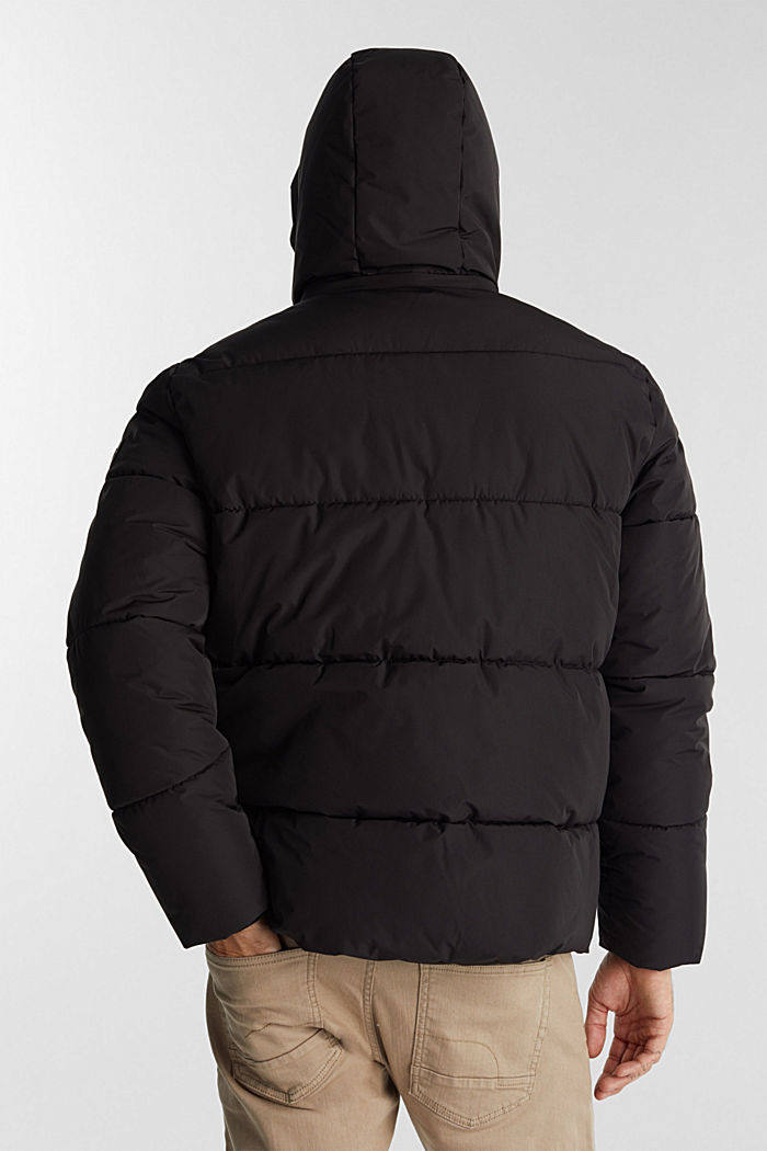 Recycled: nylon quilted jacket, BLACK, detail image number 3