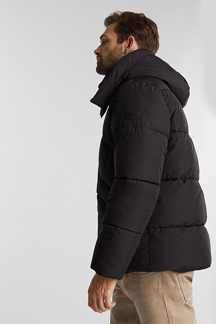 Recycled: nylon quilted jacket, BLACK, detail image number 4