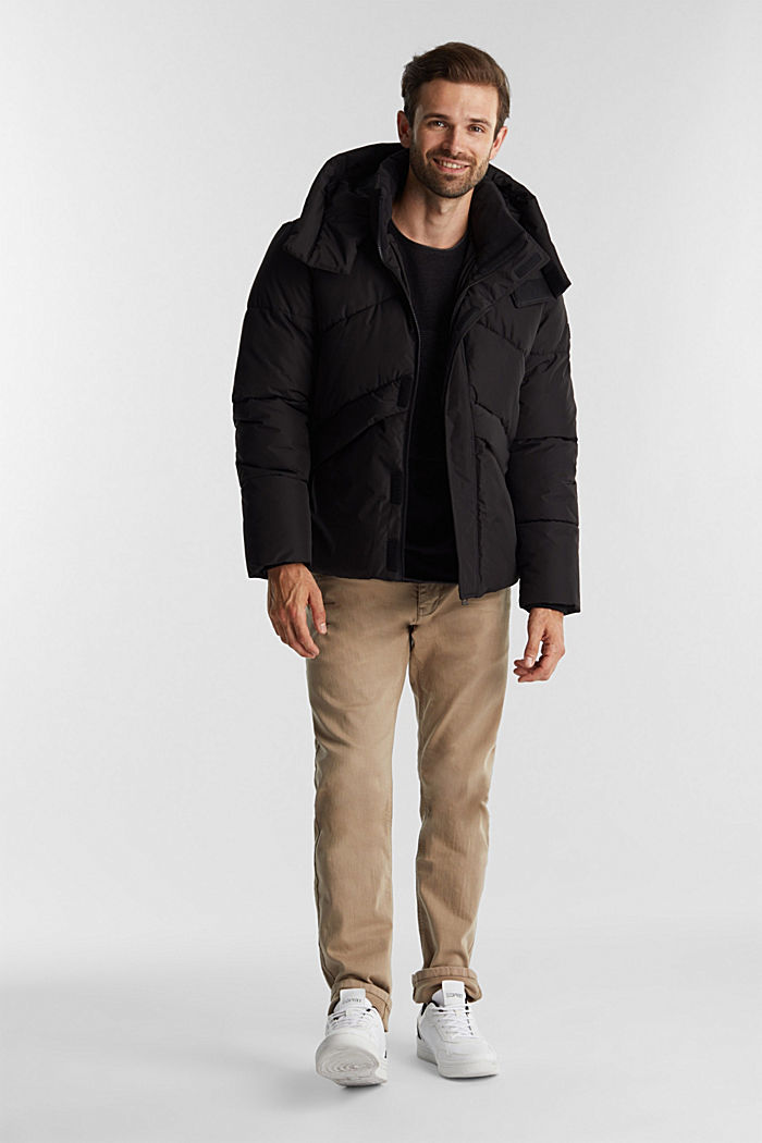 Recycled: nylon quilted jacket, BLACK, detail image number 1