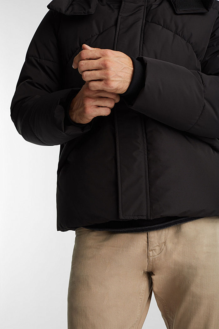 Recycled: nylon quilted jacket, BLACK, detail image number 2