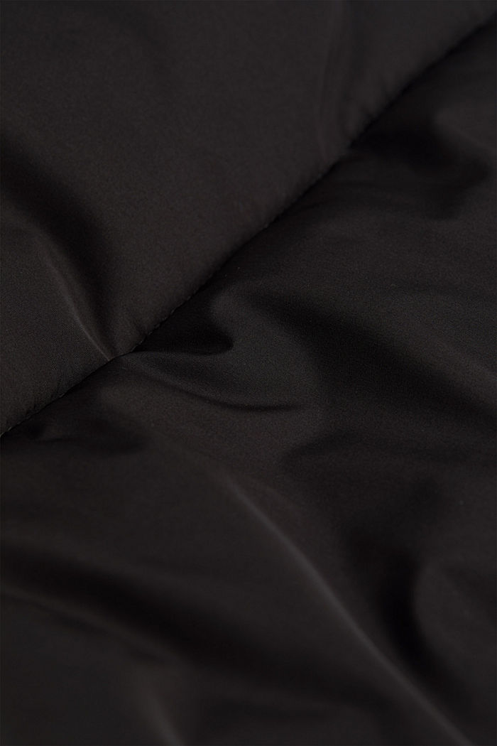 Recycled: nylon quilted jacket, BLACK, detail image number 5