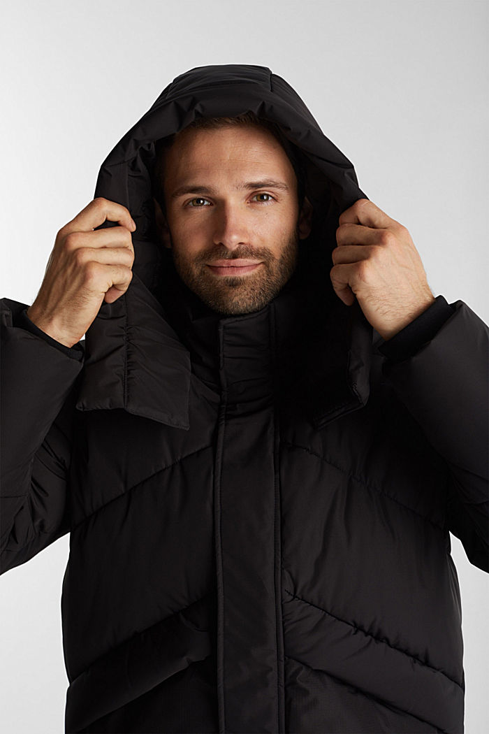 Recycled: nylon quilted jacket, BLACK, detail image number 6