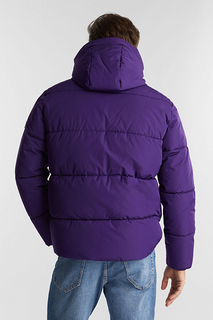 Recycled: nylon quilted jacket, PURPLE, detail image number 3