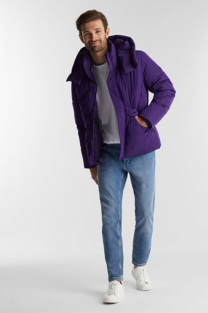 Recycled: nylon quilted jacket, PURPLE, detail image number 1