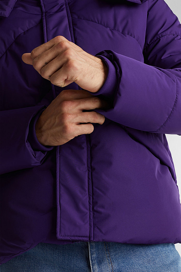 Recycled: nylon quilted jacket, PURPLE, detail image number 2