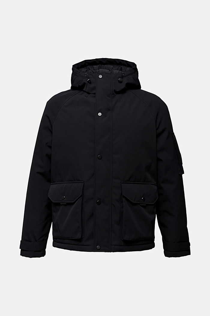 Nylon parka with a hood, BLACK, detail image number 6