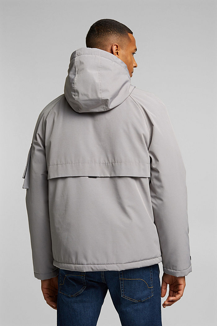 Nylon parka with a hood, GREY, detail image number 3