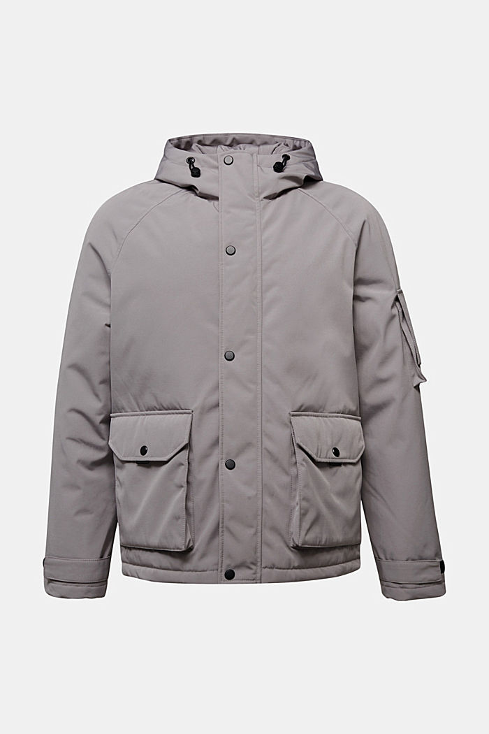 Nylon parka with a hood, GREY, detail image number 6