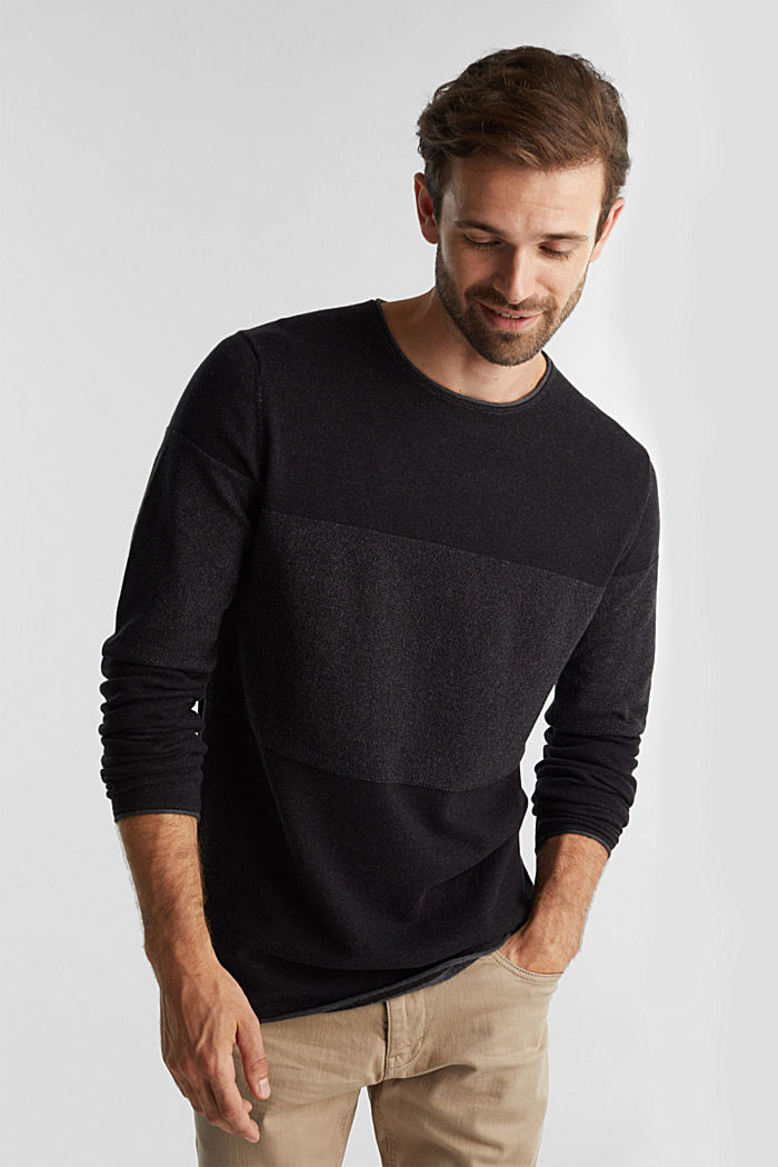 Jumper made of 100% organic cotton, BLACK, detail image number 0