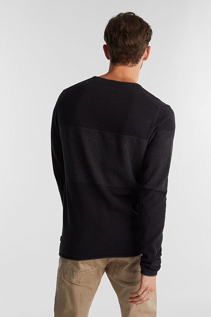 Jumper made of 100% organic cotton, BLACK, detail image number 3