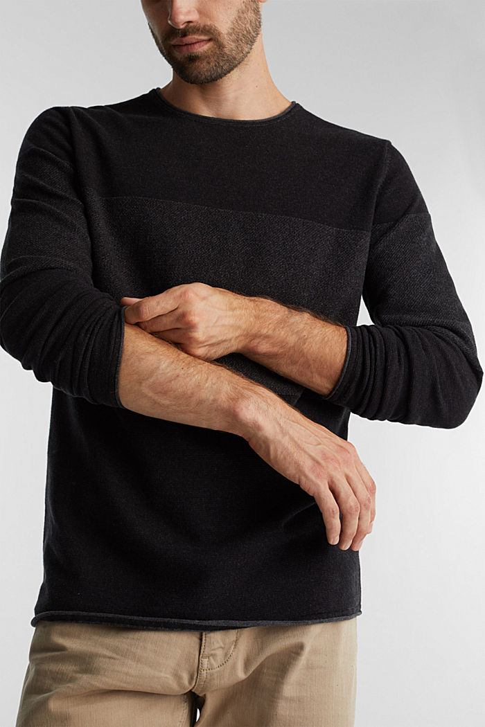 Jumper made of 100% organic cotton, BLACK, detail image number 2