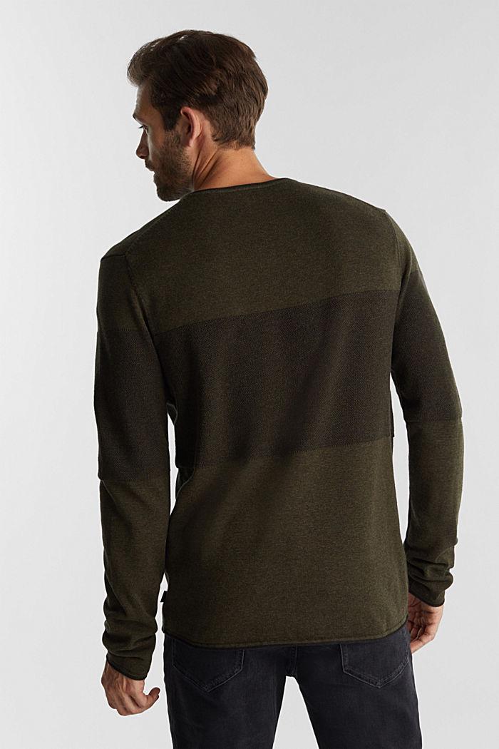 Jumper made of 100% organic cotton, KHAKI GREEN, detail image number 3