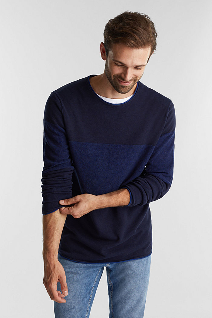 Jumper made of 100% organic cotton, NAVY, detail image number 0