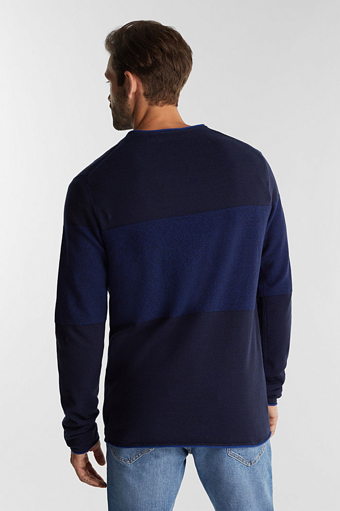 Jumper made of 100% organic cotton, NAVY, detail image number 3