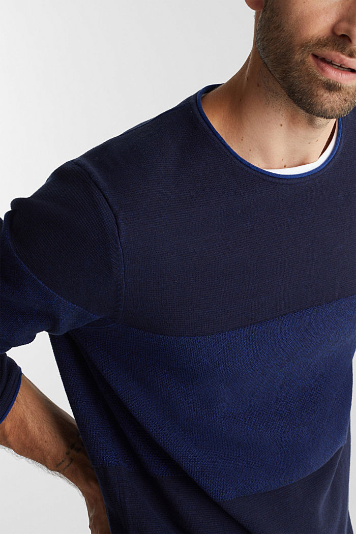 Jumper made of 100% organic cotton, NAVY, detail image number 2