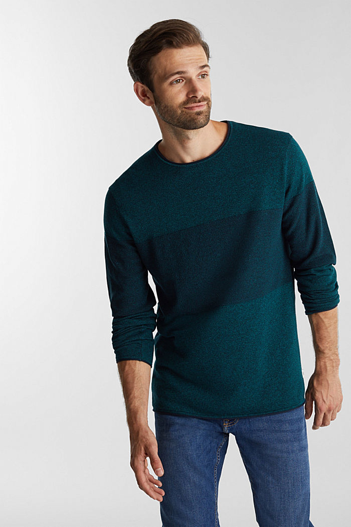 Jumper made of 100% organic cotton, TURQUOISE, detail image number 0