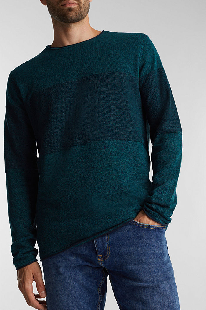 Jumper made of 100% organic cotton, TURQUOISE, detail image number 2