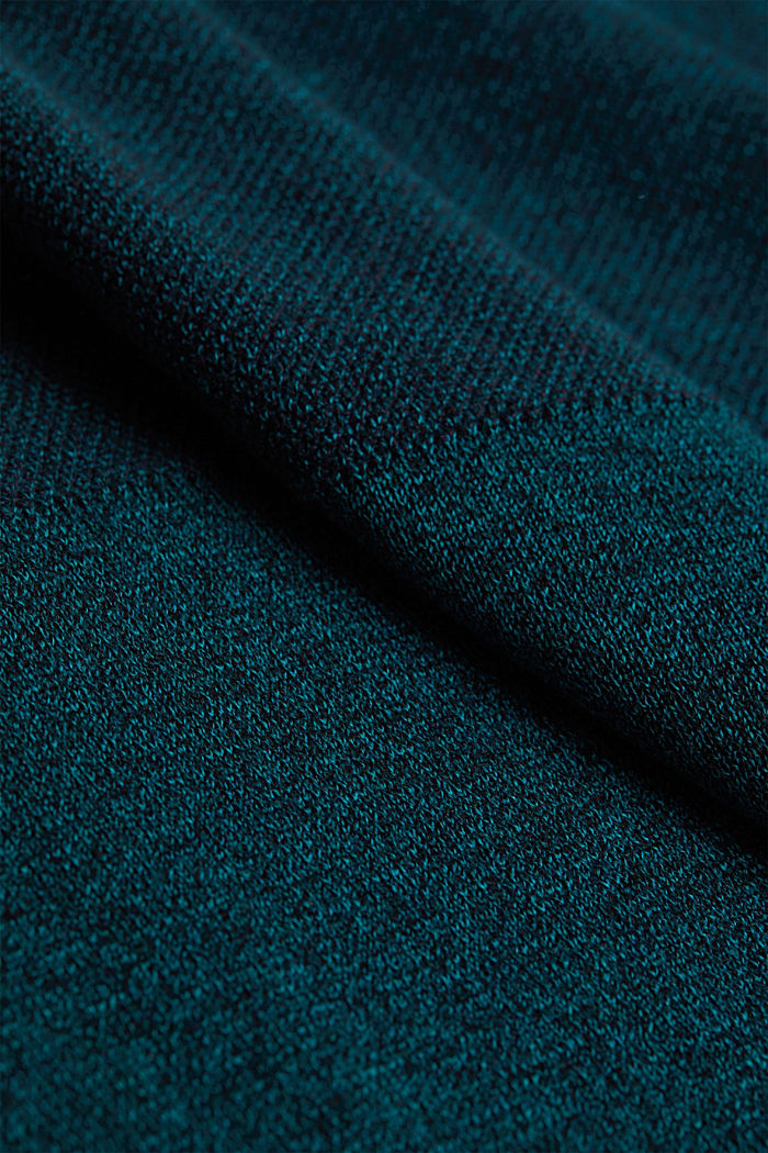 Jumper made of 100% organic cotton, TURQUOISE, detail image number 4