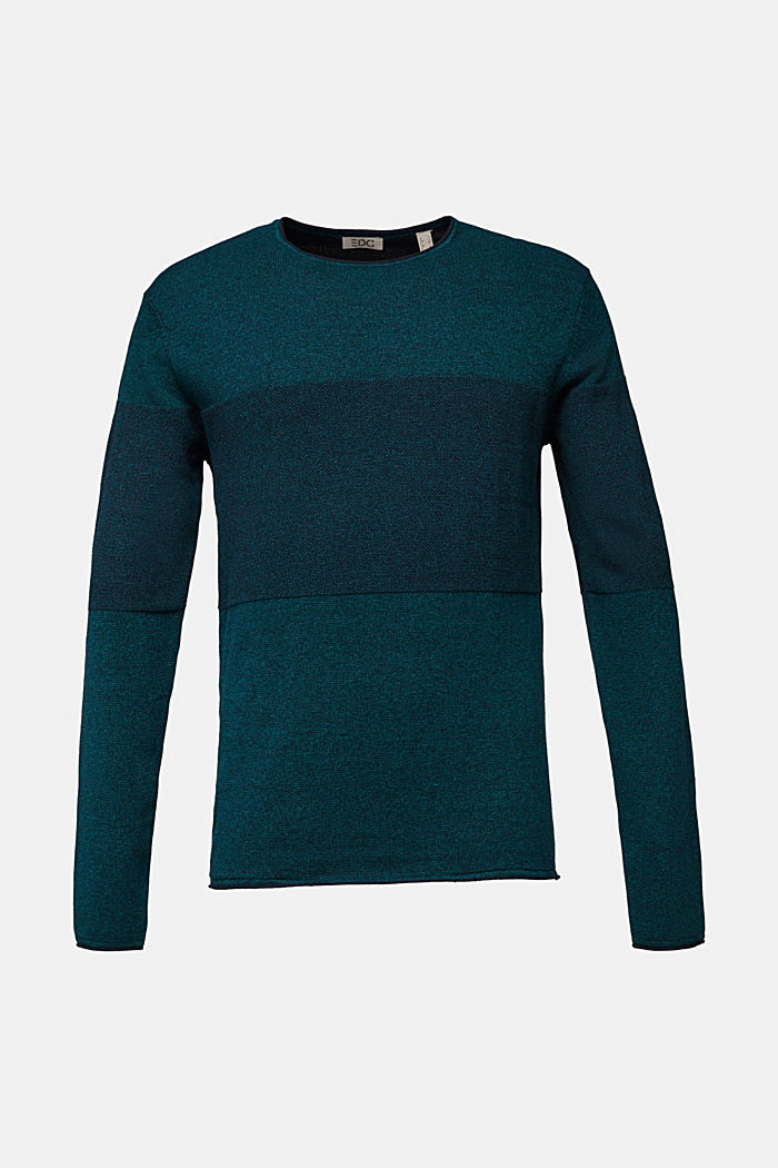 Jumper made of 100% organic cotton, TURQUOISE, detail image number 6
