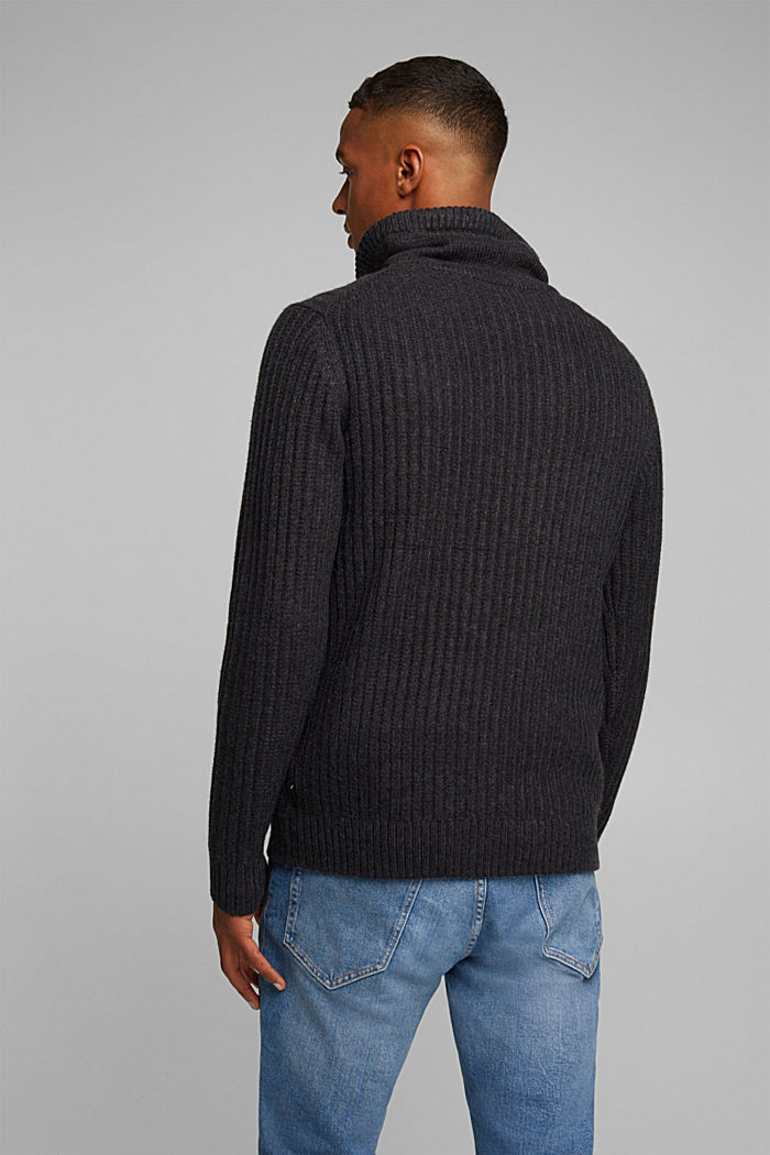 Jumper with organic cotton, ANTHRACITE, detail image number 3