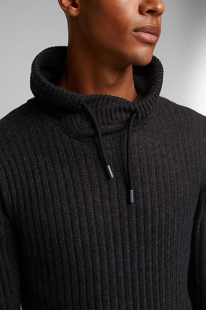 Jumper with organic cotton, ANTHRACITE, detail image number 2