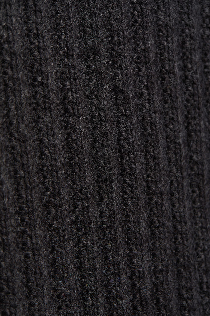 Jumper with organic cotton, ANTHRACITE, detail image number 4