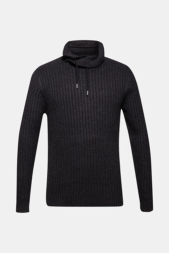 Jumper with organic cotton, ANTHRACITE, detail image number 5
