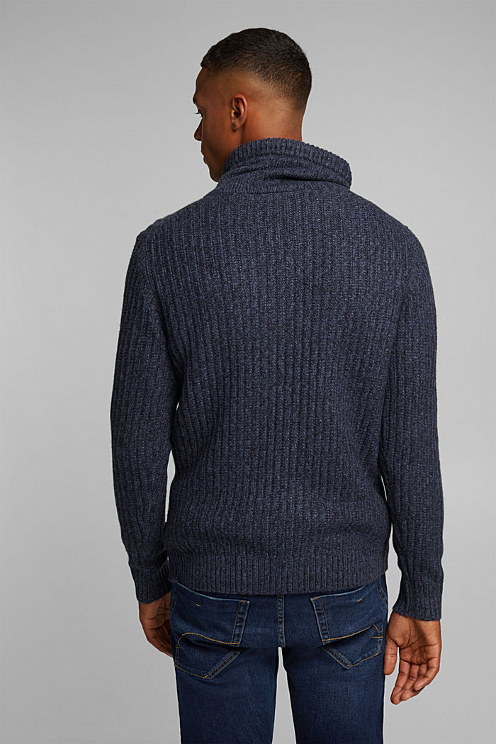 Jumper with organic cotton, NAVY, detail image number 3