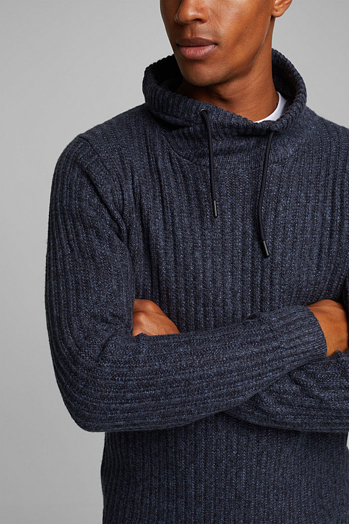 Jumper with organic cotton, NAVY, detail image number 2