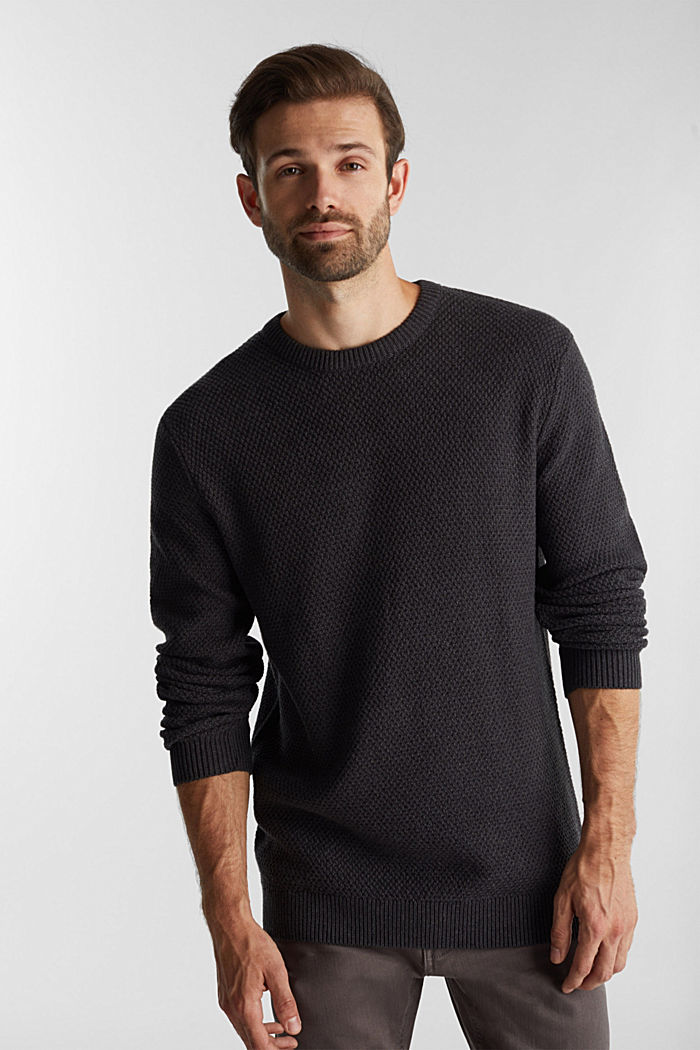 Jumper made of 100% organic cotton, ANTHRACITE, detail image number 0