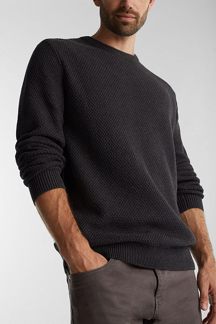 Jumper made of 100% organic cotton, ANTHRACITE, detail image number 2