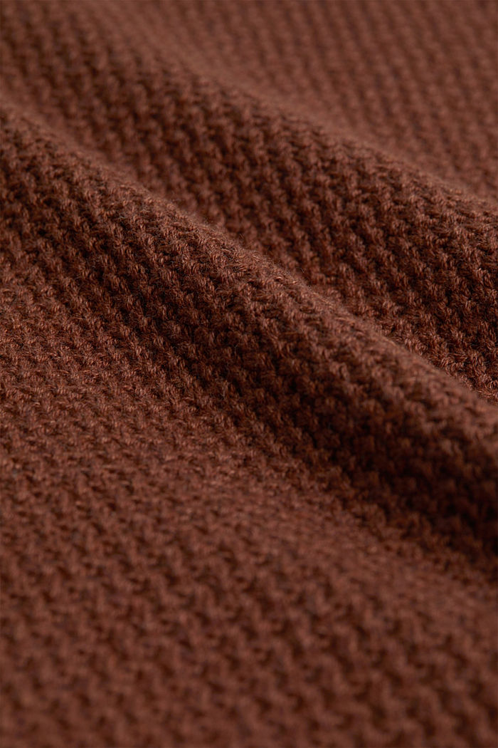 Jumper made of 100% organic cotton, CARAMEL, detail image number 4