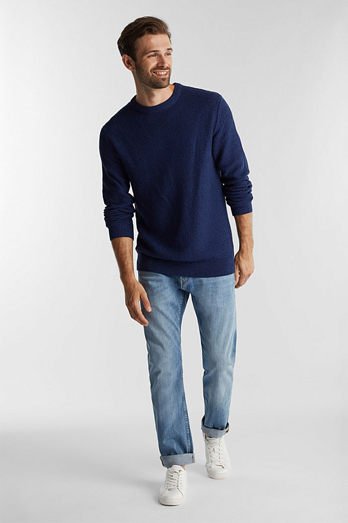 Jumper made of 100% organic cotton, BLUE, detail image number 1
