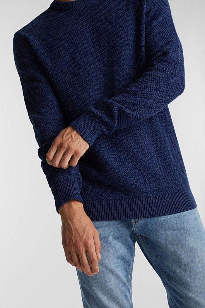 Jumper made of 100% organic cotton, BLUE, detail image number 2