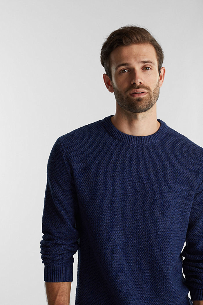 Jumper made of 100% organic cotton, BLUE, detail image number 5